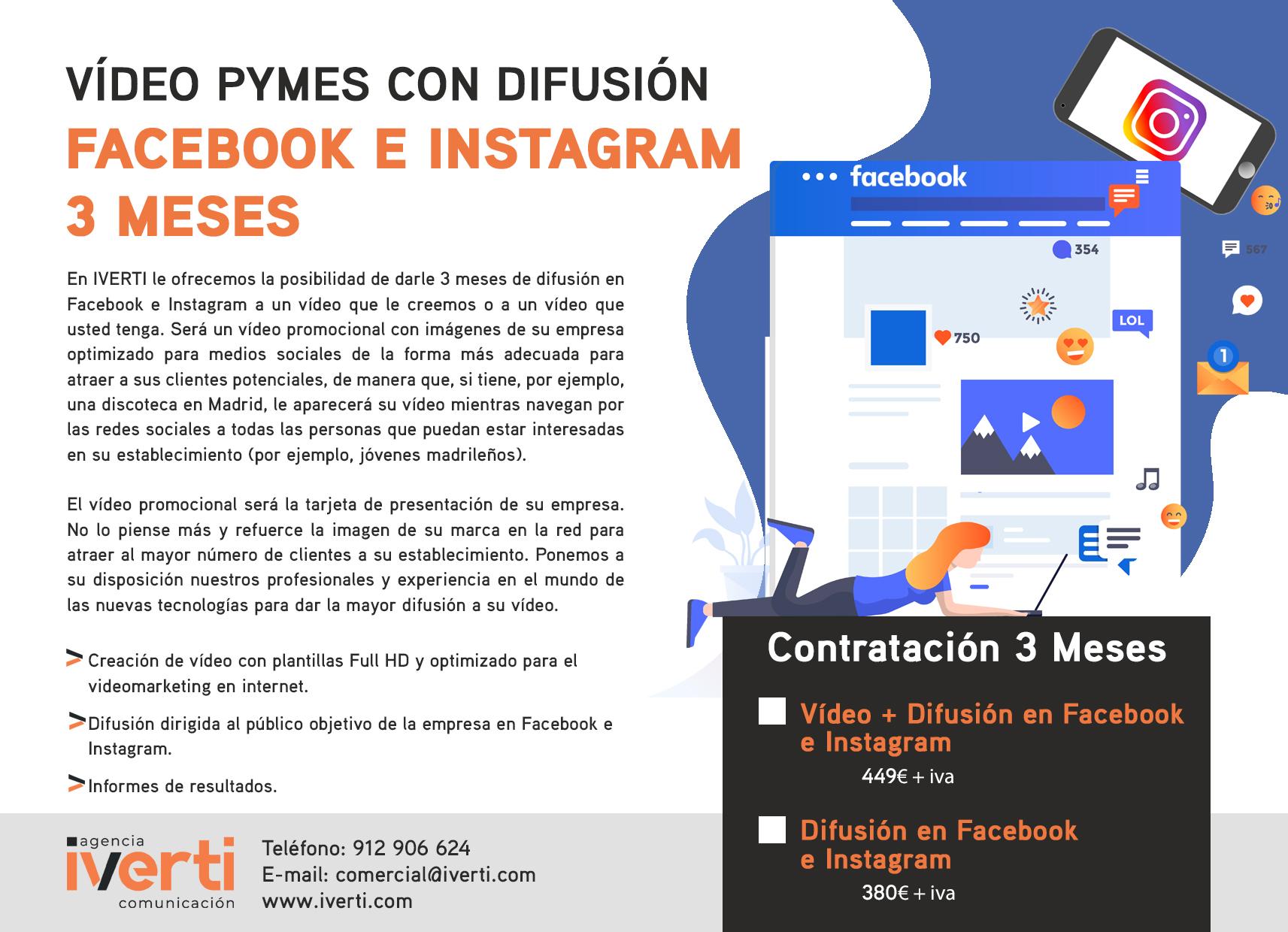 video difusion  facebook-instagram 3meses
