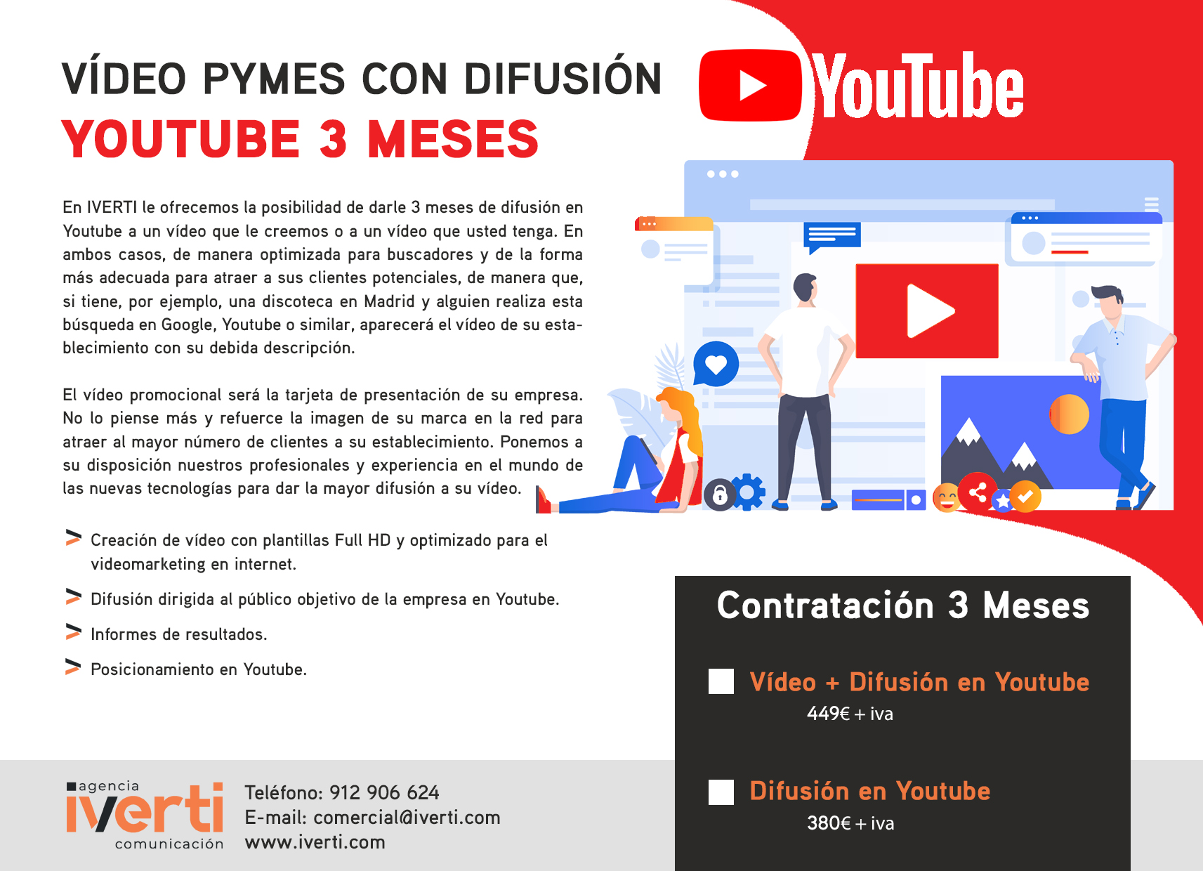 video difusion youtube 3meses